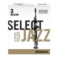 Rörblad Jazz select Sopransaxofon 3 medium filed